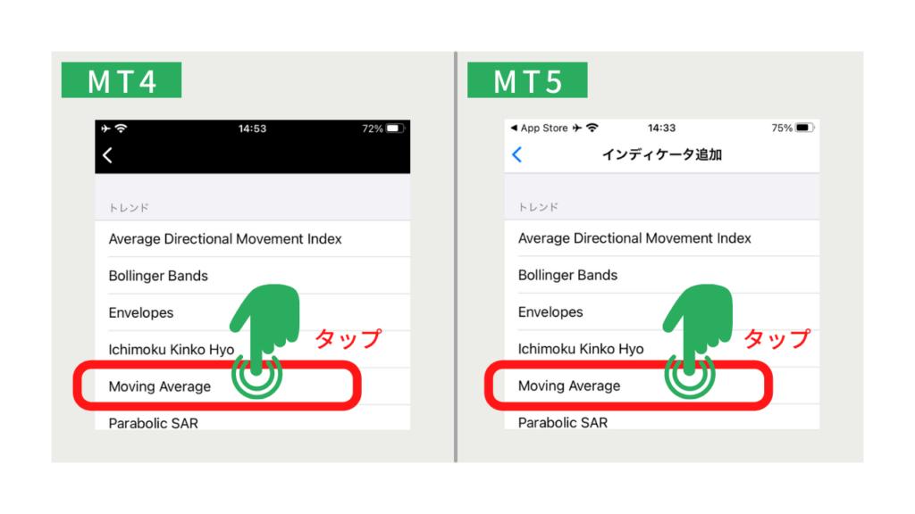 XM 移動平均線 MT4MT5 アプリ
