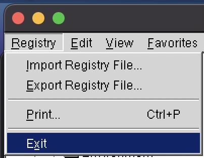 Registry Exit XM MT4